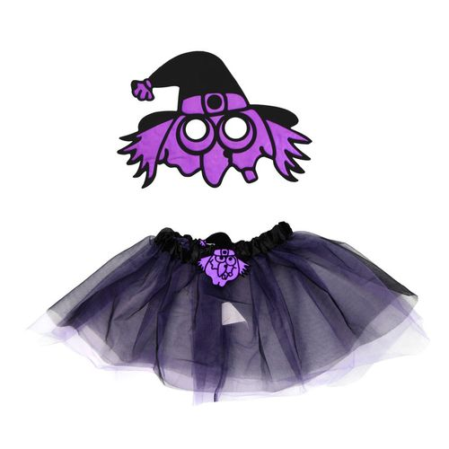 Kit Fantasia Infantil Bruxa Halloween