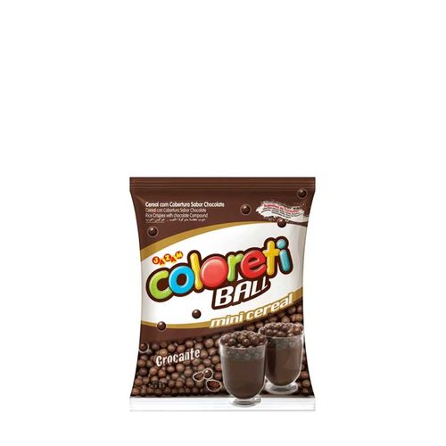 Confeito Mini Cereal Coloreti Mini Ball Chocolate 500g